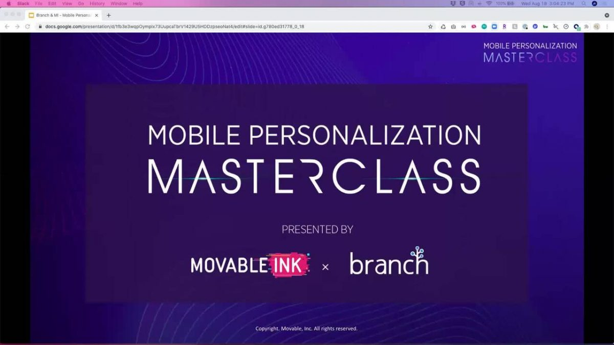 Mobile Personalization Masterclass with Movable Ink and Branch [Video]