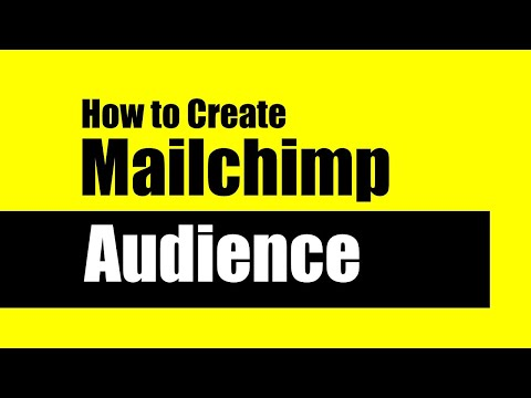Creating an Audience in Mailchimp | How to Create an Audience in MAILCHIMP [Video]