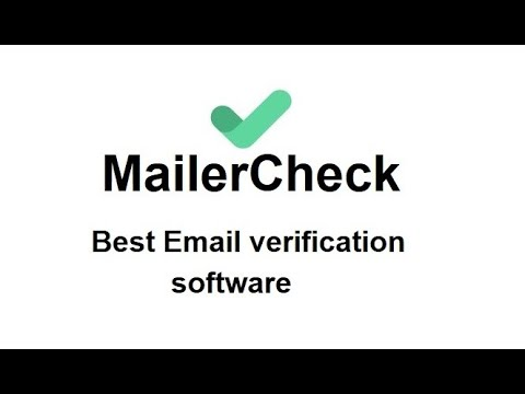 Unlimited Create MailerCheck Account. Email List Verification & Cleaning Service. Email Verification [Video]