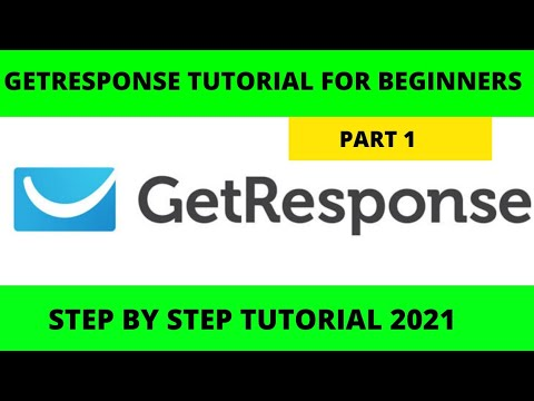 Getresponse Tutorial For Beginners 2021 | landing page and email marketing software tutorial Part 1 [Video]