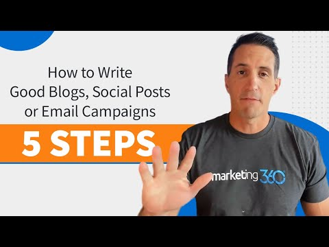 How to Write Good Blogs, Social Posts or Email Campaigns – 5 Steps [Video]