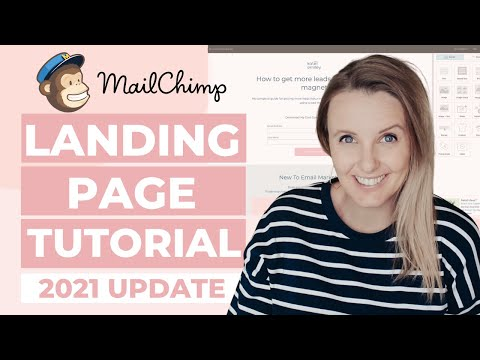 NEW Tutorial 2021: Easily Create a FREE Landing Page on MailChimp to BOOST Your Email List [Video]