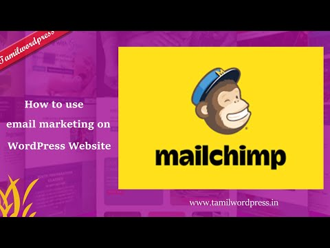 How to use email marketing on a WordPress website using Mailchimp  Tamil [Video]