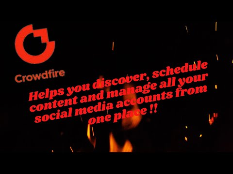 ✅CROWDIFIRE, specializing in social media automation !! [Video]